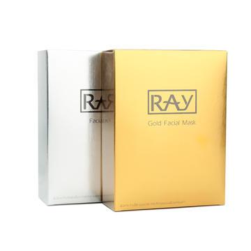 【香港直邮】泰国 RAY 蚕丝面膜 银色+金色 20片