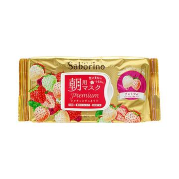 日本 Saborino 早安免洗懒人面膜32片-白色草莓