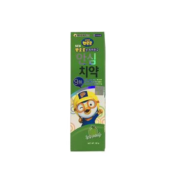 韩国 Pororo 宝露露 无氟防蛀牙苹果味牙膏 80g