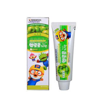 韩国 Pororo 宝露露 无氟防蛀牙苹果味牙膏 90g