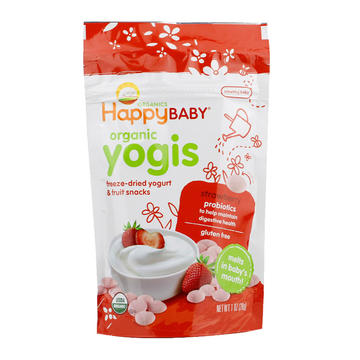 美国 Happybaby 禧贝 草莓酸奶味溶豆 28g