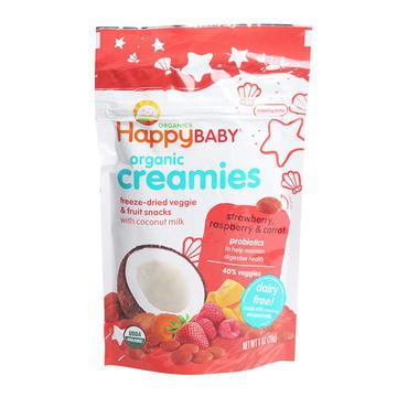 美国 Happybaby 禧贝 有机椰奶草莓覆盆子溶豆 28g