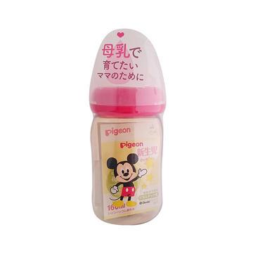 日本 Pigeon 贝亲 母乳实感宽口 PPSU奶瓶 米奇图案 160ml 新生儿用